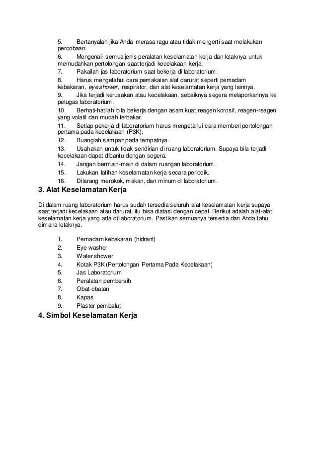 Prosedur Keselamatan Kerja Di Laboratorium : prosedur, keselamatan, kerja, laboratorium, Prosedur, Keselamatan, Kerja, Laboratorium