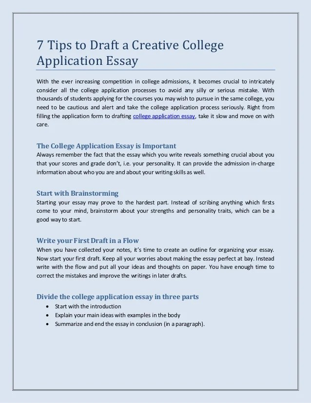 How to write a college essay introduction