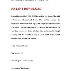 Clark Forklift C500 Wiring Diagram Bottlenose Dolphin Cf 25 Manual E Books 30 55 Service Repair Workshop Downloadclark 11