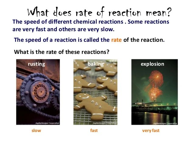 8 1 Reaction Rate