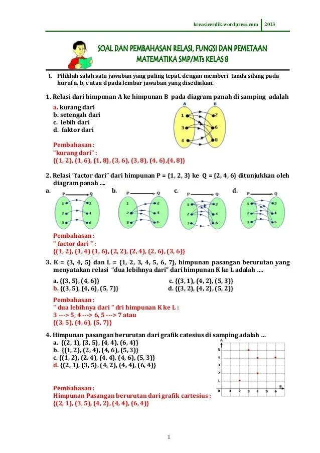 Soal Cerita Himpunan : cerita, himpunan, 8.3.1), Pembahasan, Relasi, Fungsi,, Matematika, Kelas