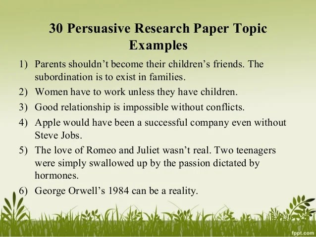Research Persuasive Essay Topics Argumentative Research Paper On