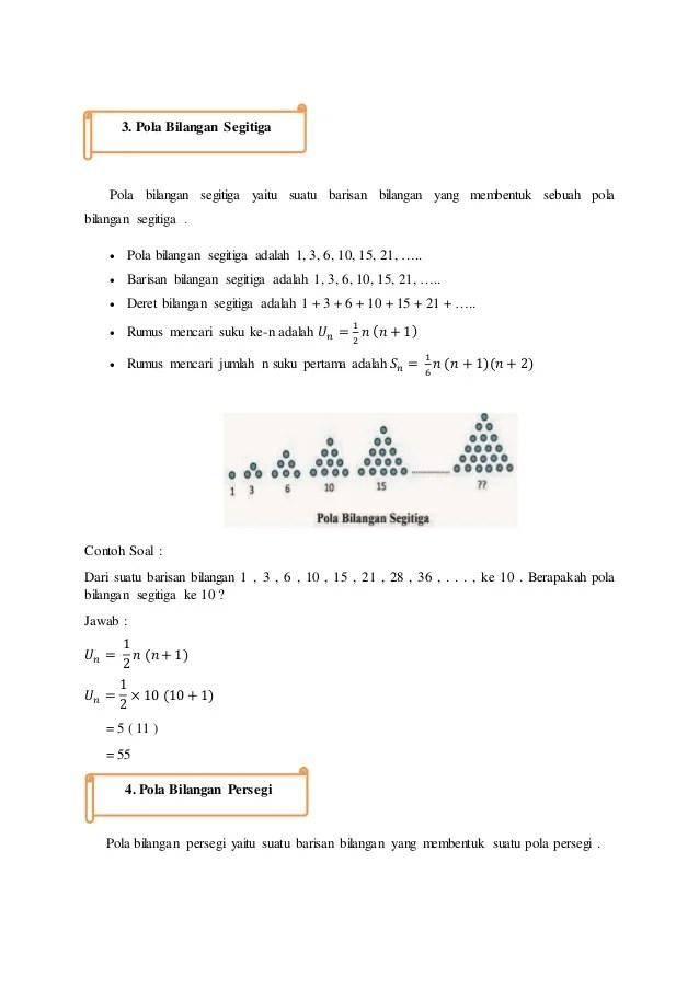 Berapakah Bilangan Persegi Ke 3 : berapakah, bilangan, persegi, Bahan, Biliangan,, Barisan, Deret