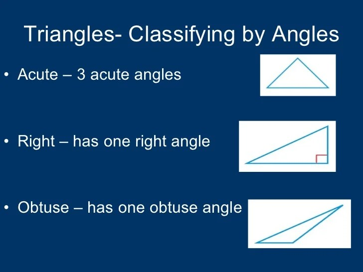 Triangle One Obtuse Angle Real Life