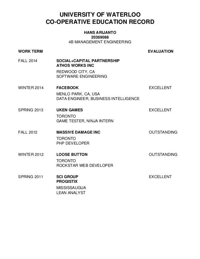 Resume Transcript