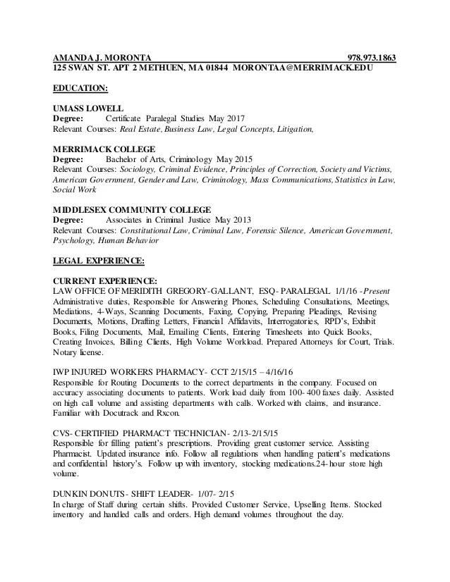 AMANDA J 2017 Resume