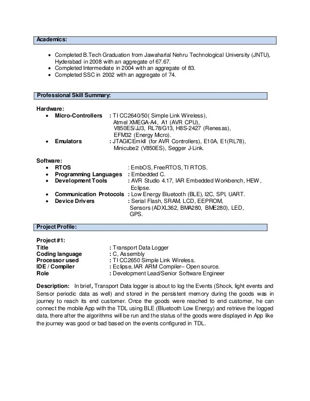 Resume With Jira Experience - Resume Examples | Resume Template