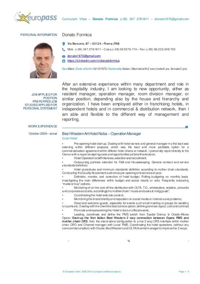 europass cv english free download