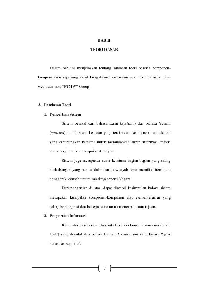 Contoh Landasan Teori Proposal