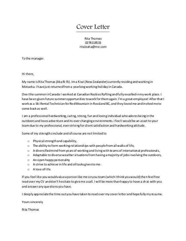Rita CV  Cover letter combo