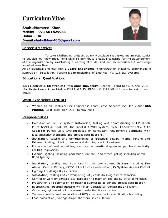 Electrical Engineer CV 2