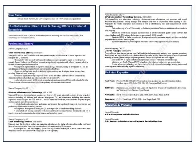 Cio Resume Format 2014