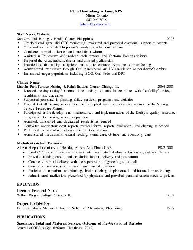 Rpn Sample Resume  Resume Ideas