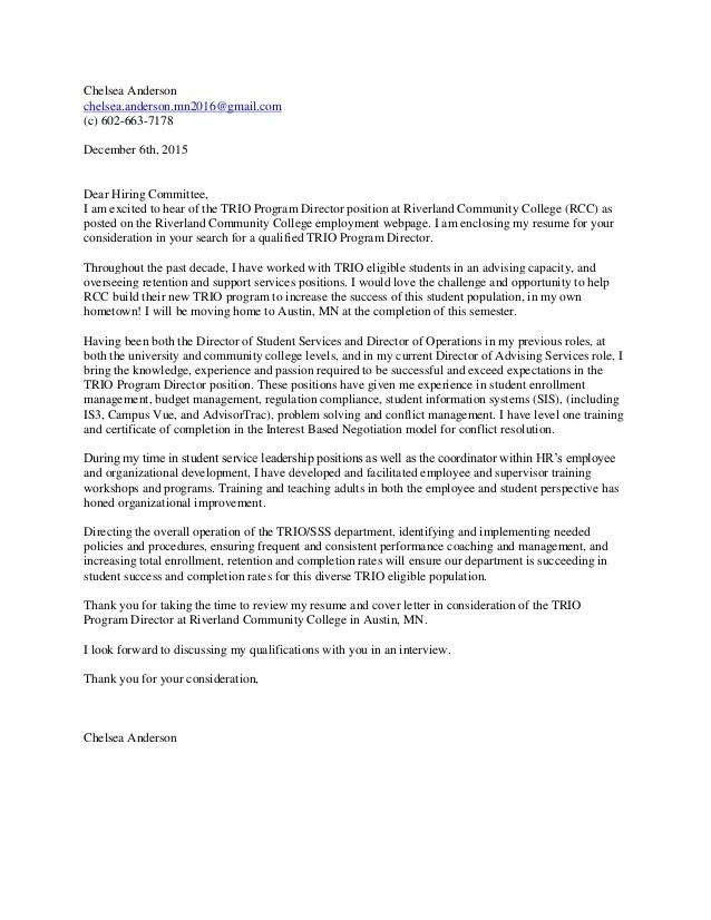 ChelseaAnderson2015 Cover Letter TRIO Director 2