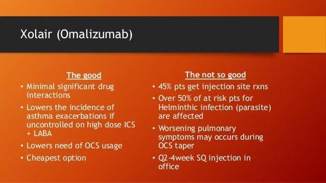 Xolair and Cinqair for allergic asthma