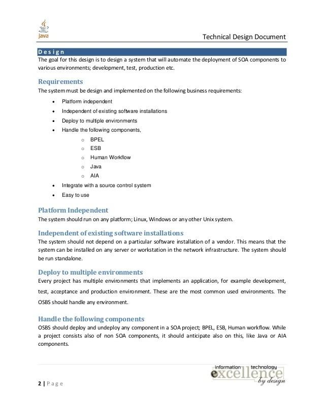Java Technical Design Document