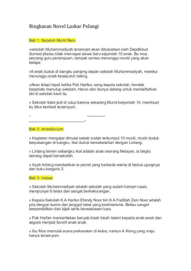 Contoh Teks Ulasan Novel Laskar Pelangi : contoh, ulasan, novel, laskar, pelangi, 94901288, Ringkasan-laskar-pelangi-1