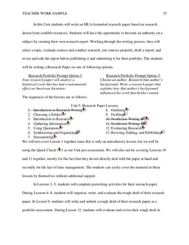 Your Key To Academic Writing Success Sample 11th Grade Research