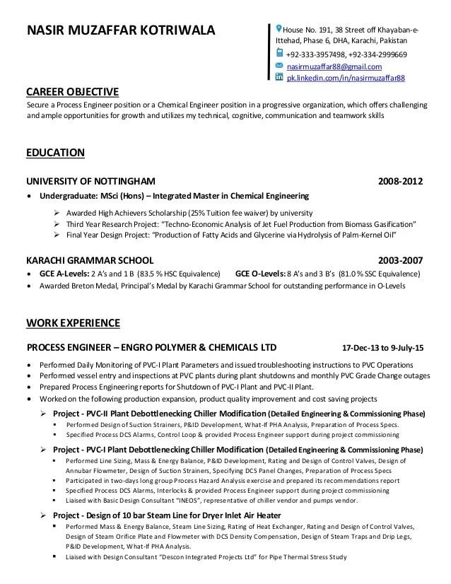 CV Nasir Muzaffar Chemical Eng
