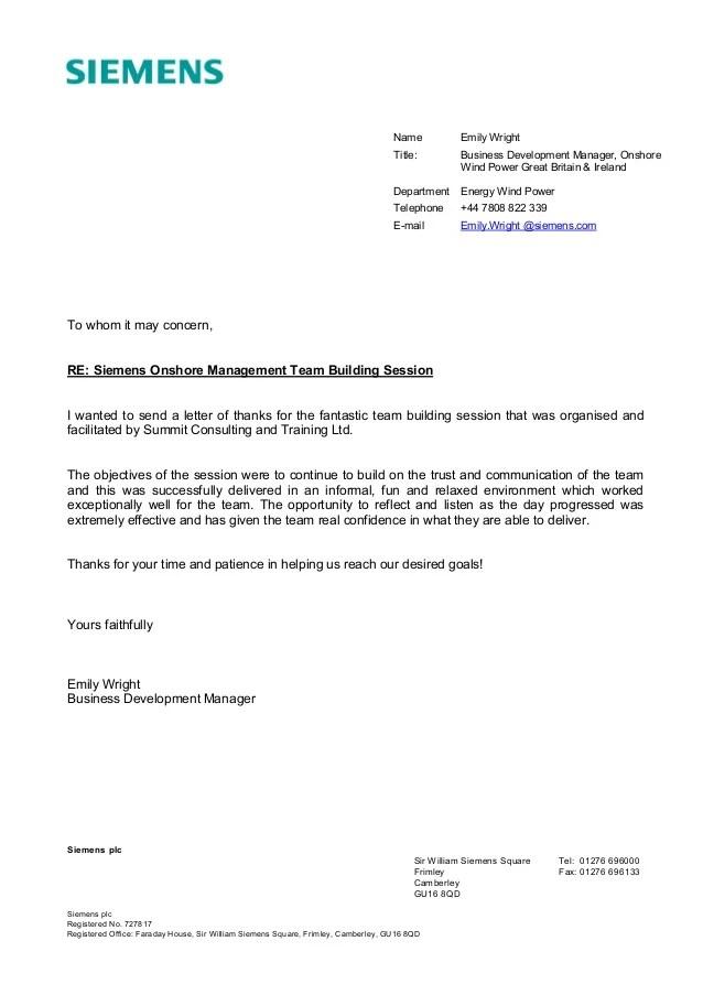 Siemens Team Building Testimonial
