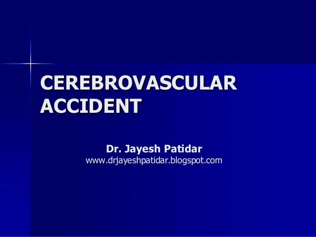 cerebrovascular accident