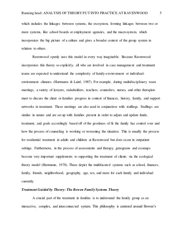 An Analysis Of Bowens Family Systems Theory Essay Writing Service