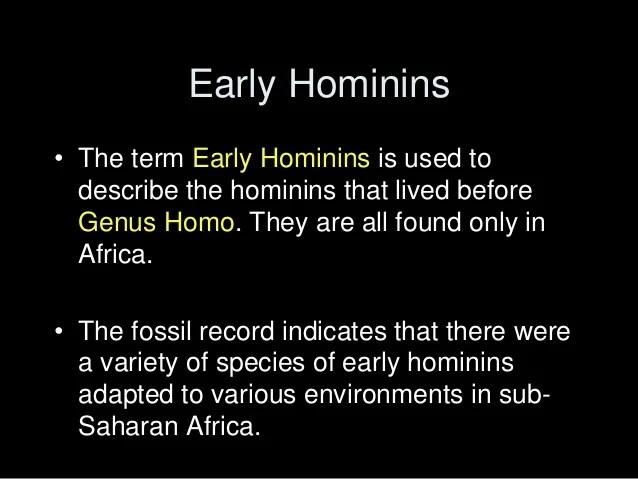 9 Early Hominins