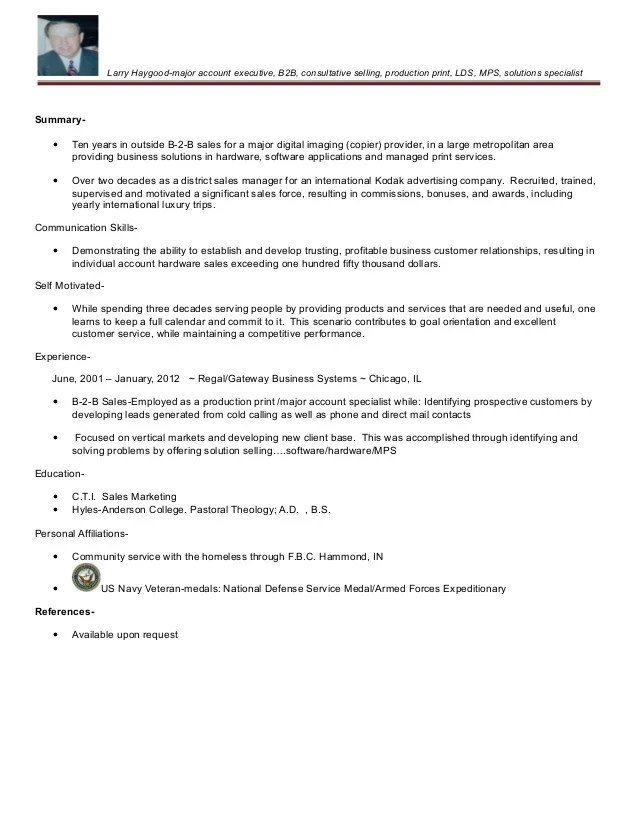 Larry T Haygood Production Print Resume 2015