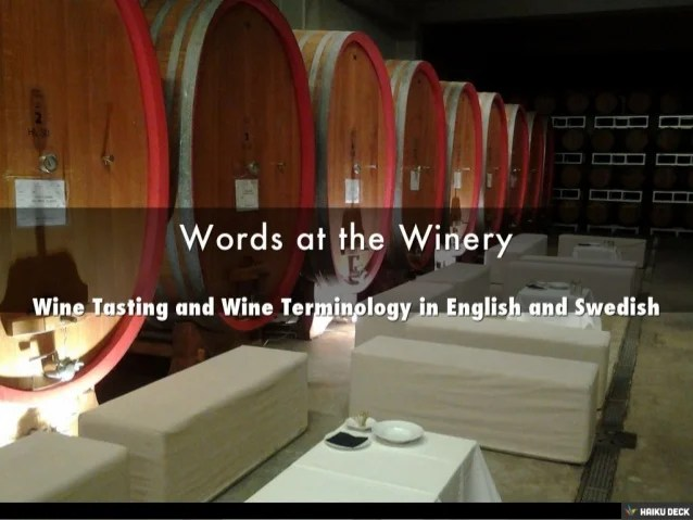Wine Tasting and Wine Terminology in English and Swedish