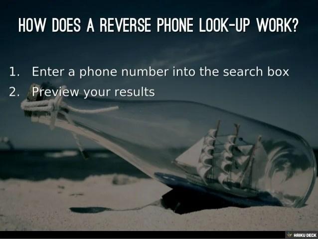 Mobile Phone Number Reverse Lookup