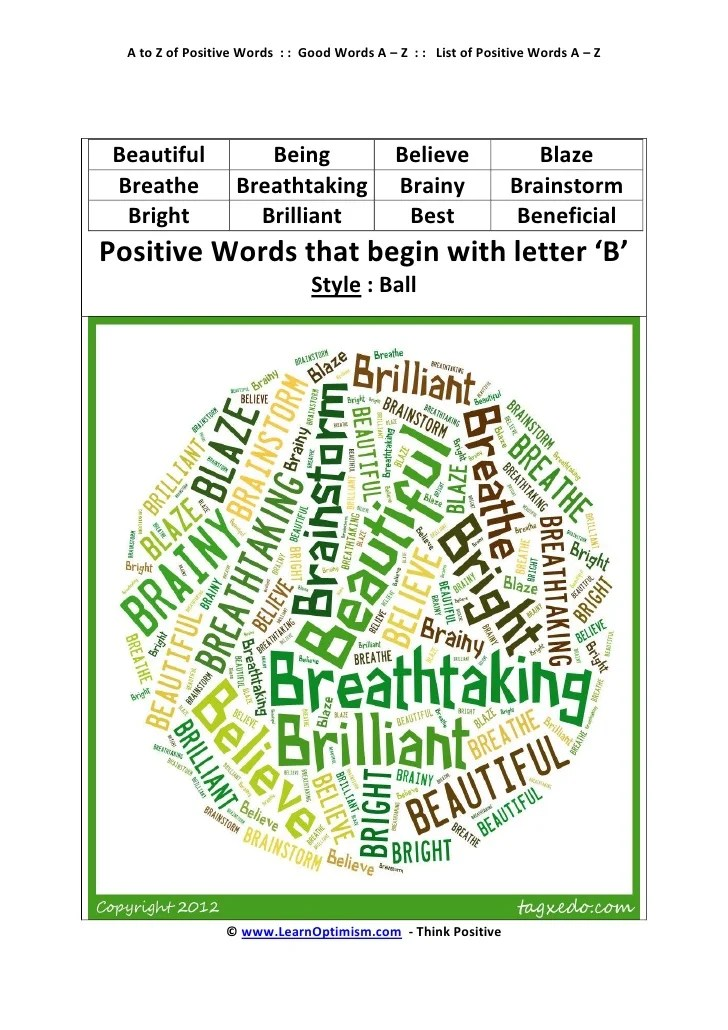 Positive Descriptive Words That Begin With The Letter I Inviview