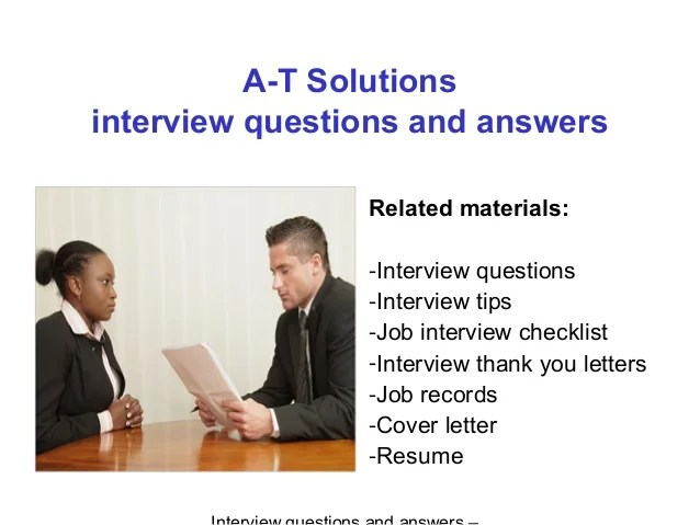A t solutions interview questions and answers
