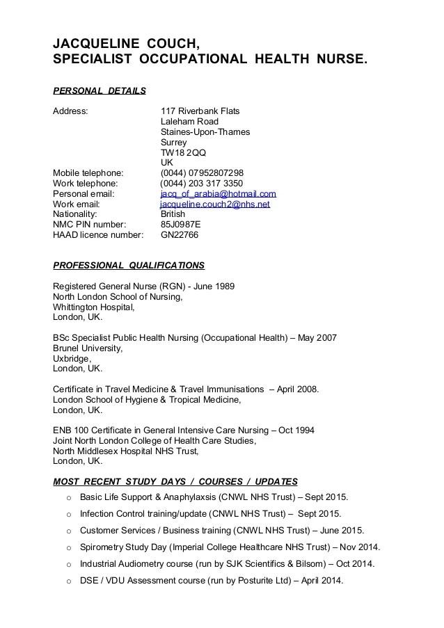 Sample Resume Cna