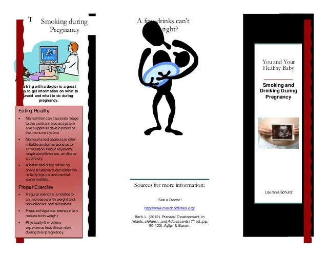 Brochure Smoking And Drinking During Pregnancy