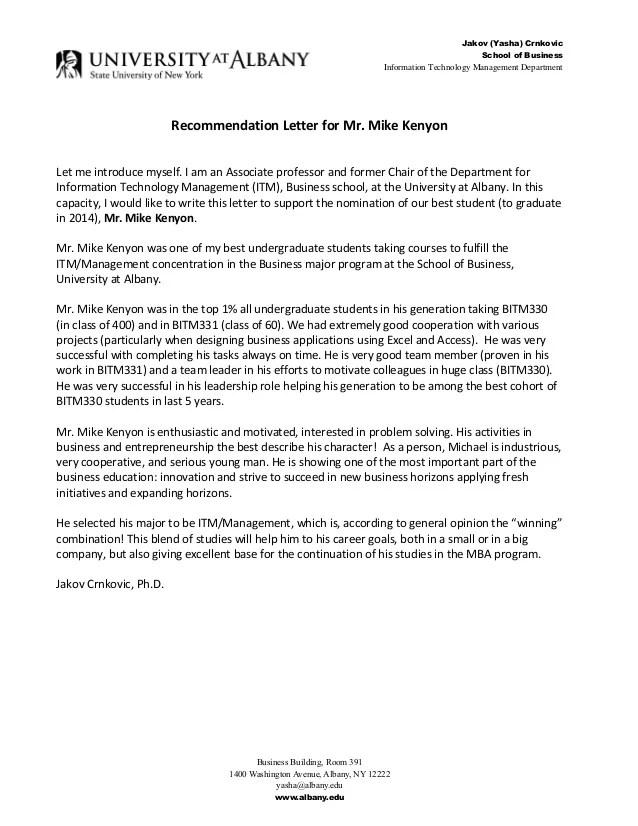 Jakov Yasha Crnkovic Ph D Recommendation Letter