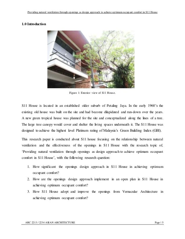 Asian Architecture Research Paper