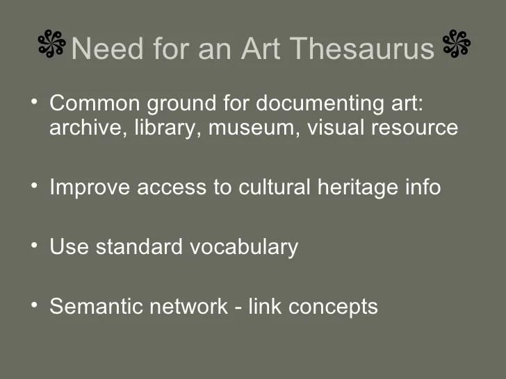 Art and Architecture Thesaurus