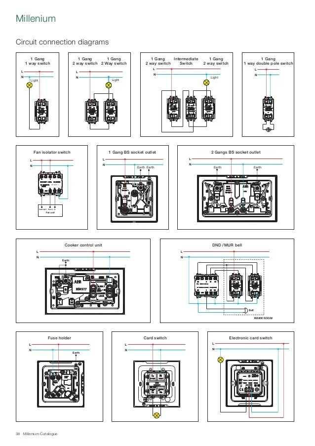 Abb Wiring Diagrams Abb Millenium Catalogue Knx System Switch Amp Sockets Info