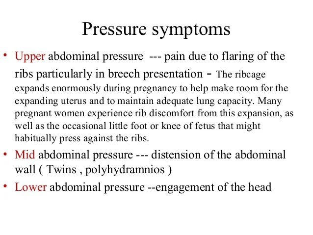 Right Upper Quadrant Pressure