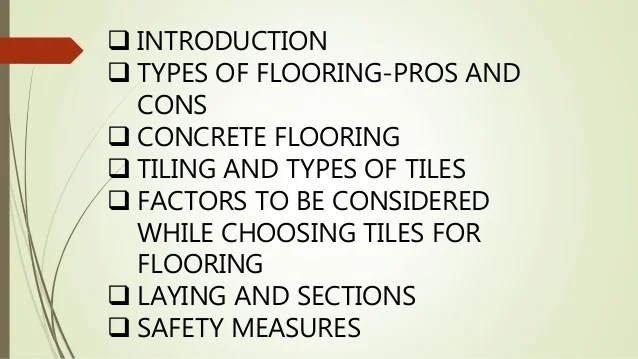 flooring and types