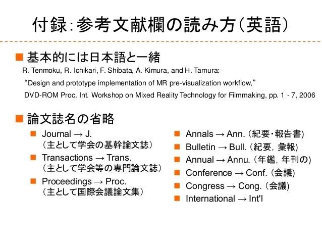 論文に関する基礎知識2015