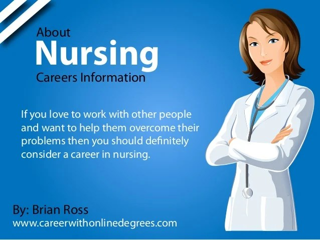 About nursing careers information