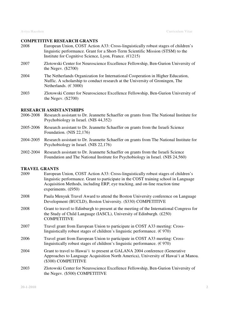 Examples Of Academic Resumes  Examples Of Resumes