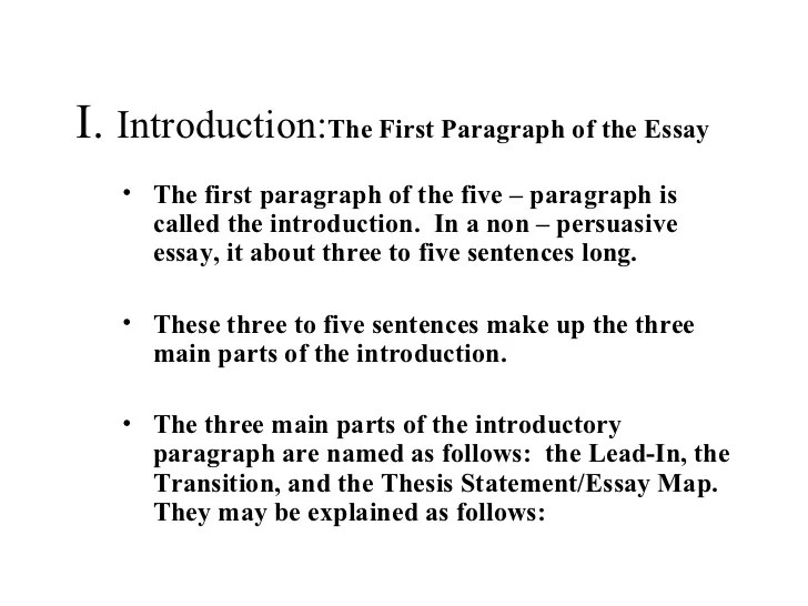 How To Write A Introductory Paragraph For An Essay Introductory