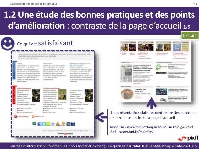Accessibilit Des Portails De Bibliothque Baromtre Et