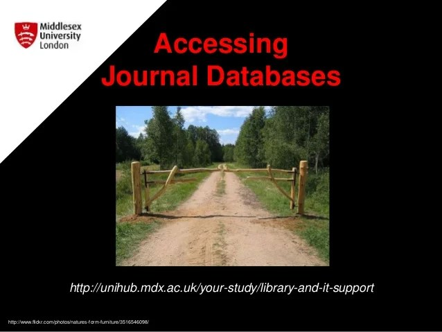 Accessing Journal Databases