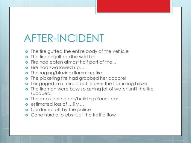 Accident Report  essay