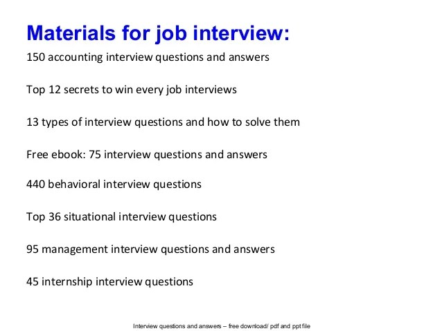 Accounting Intern Interview Questions