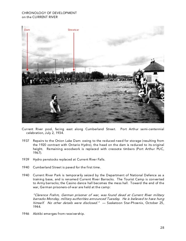 A Chronology Of Development On The Current River