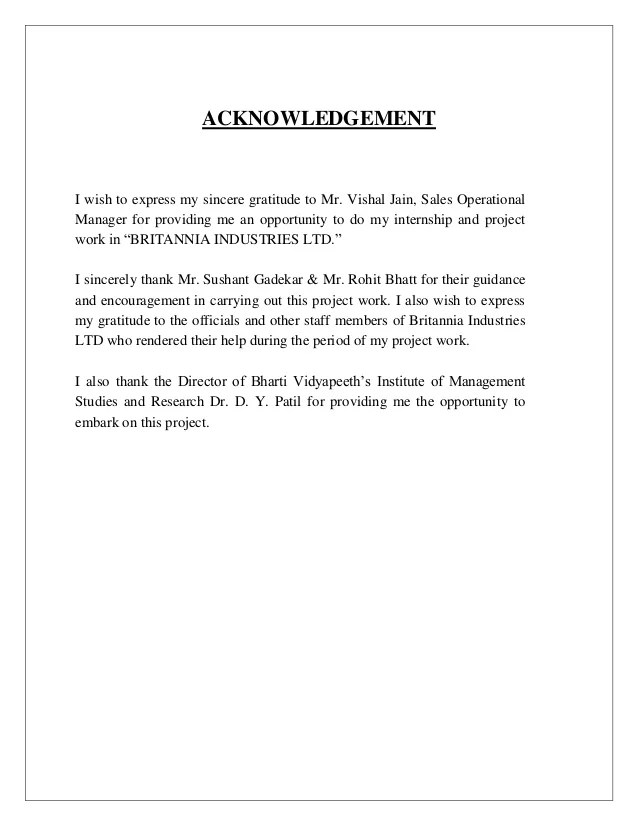 Writing a dissertation acknowledgements